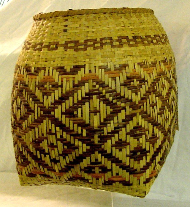 Cherokee River Cane Planter Basket