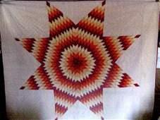 1930s East Tenn. Star Cotton Quilt