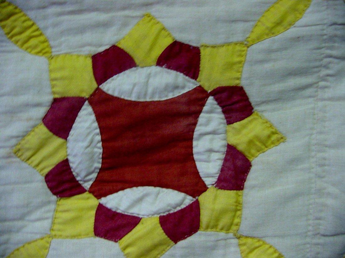 Penn 1900 Red, White & Gold Quilt - 3