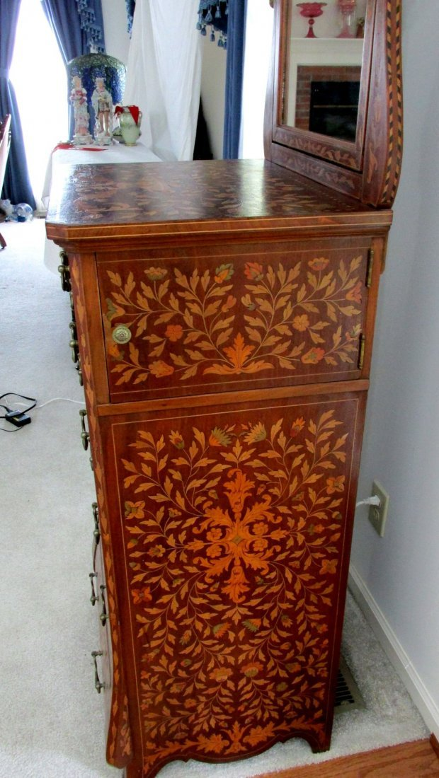 Dutch Bombay Inlaid Shaving Stand