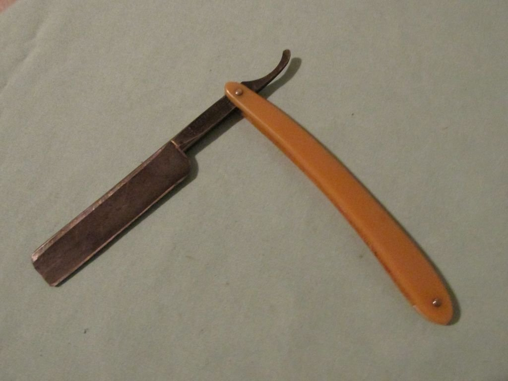 123 Red Imp Straight Razor Made in U.S.A. by Case