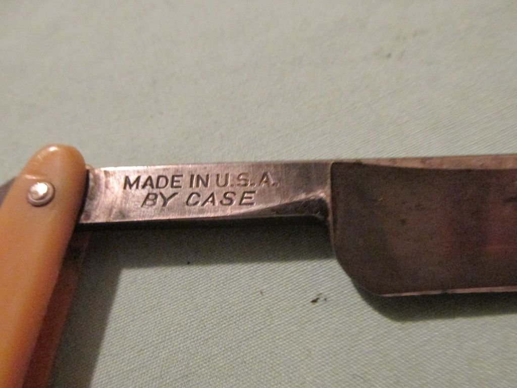 123 Red Imp Straight Razor Made in U.S.A. by Case - 3