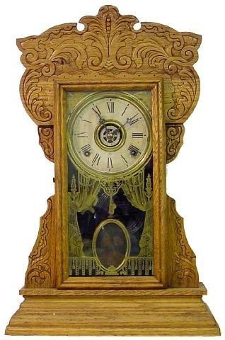 1001: Gilbert Oak Kitchen Style w/Alarm & Fancy Case