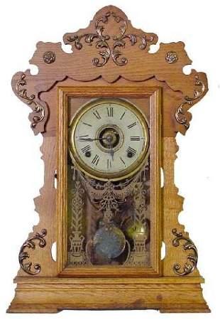 Seth Thomas No. 298A, Alarm Kitchen Clock w/Ornat