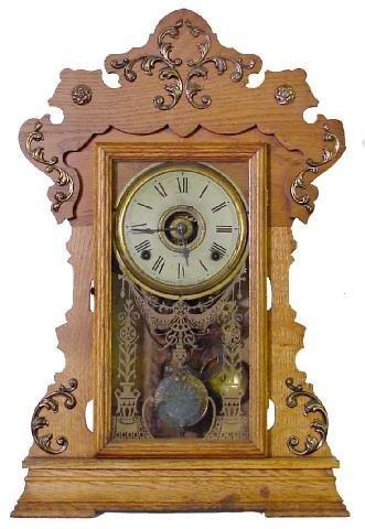 1007: Seth Thomas No. 298A, Alarm Kitchen Clock w/Ornat