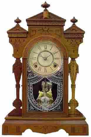 Gilbert Fancy Walnut Kitchen Clock