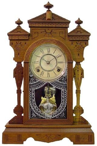 1009: Gilbert Fancy Walnut Kitchen Clock