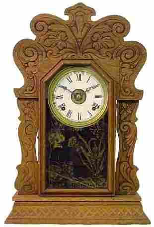 Oak 1900 Kitchen Alarm Clock w/Oak Leaf Motif