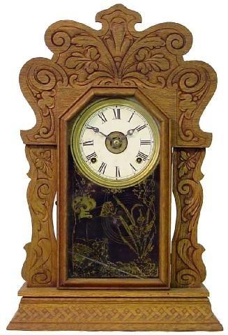 1011: Oak 1900 Kitchen Alarm Clock w/Oak Leaf Motif
