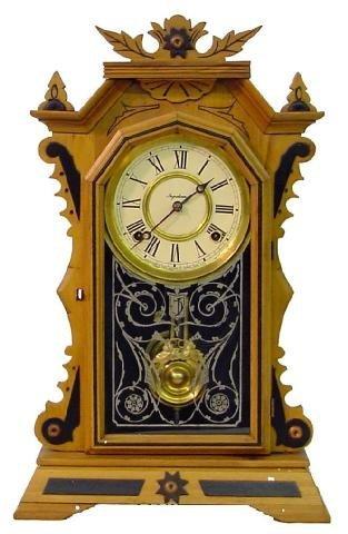 1015: Ingraham Fancy Kitchen Clock w/Applied Carvings