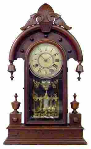Elbe New Haven Walnut Victorian Kitchen Clock