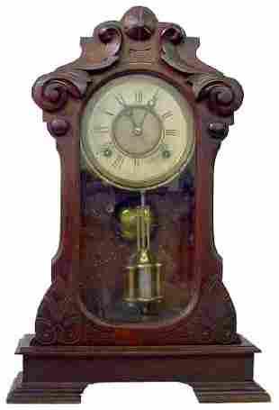 Walnut Renaissance Revival Style Kitchen Clock