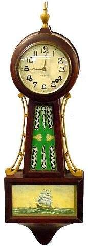 New Haven Banjo Clock, 20th Century