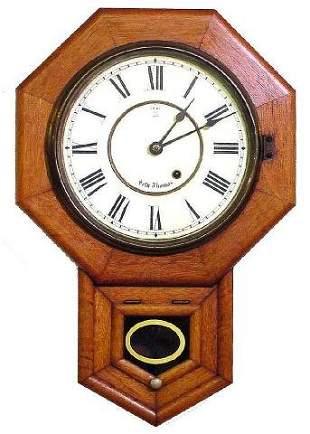 Seth Thomas School House Oak Wall Clock