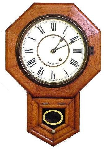 2008: Seth Thomas School House Oak Wall Clock