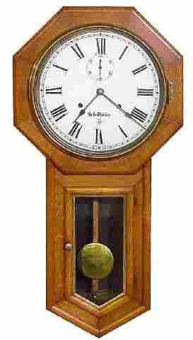 Seth Thomas 30 Day School House Oak Wall Clock