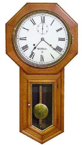2009: Seth Thomas 30 Day School House Oak Wall Clock