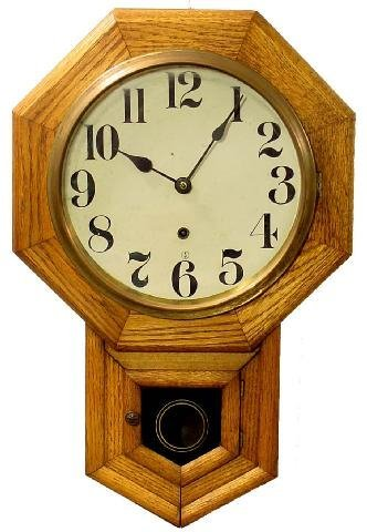 2011: Oak Time Only School House Clock