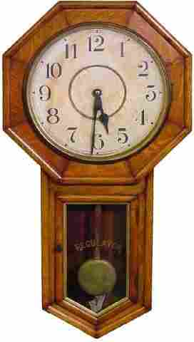 Waterbury School House Regulator Wall Clock