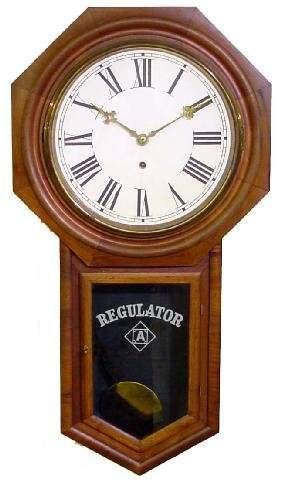 Ansonia Regulator Mahogany School House Clock