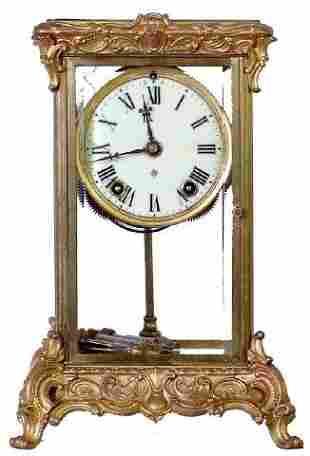 Ansonia Peer Model Crystal Regulator Clock