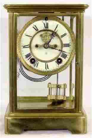 Ansonia Crystal Regulator Open Escapement Clock