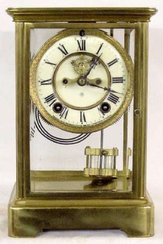 2018A: Ansonia Crystal Regulator Open Escapement Clock
