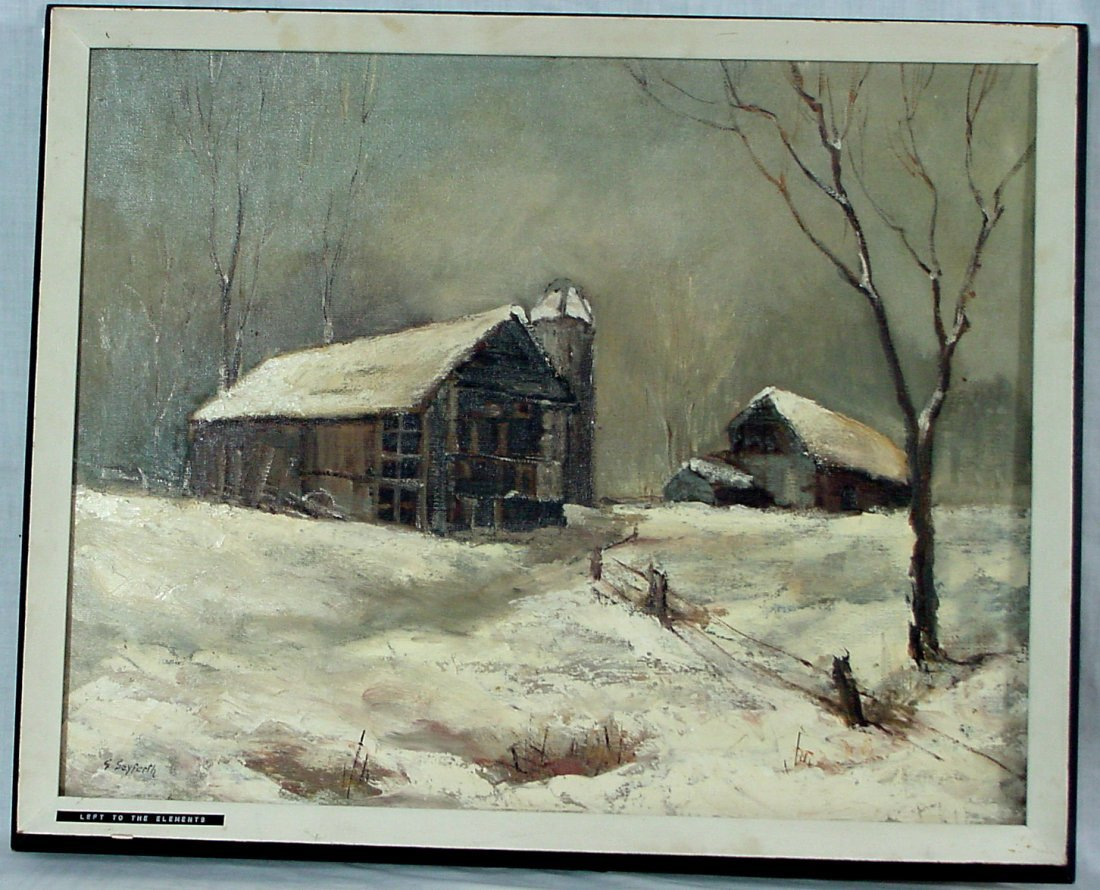 """G. Seyferth, Oil Painting, """"Left To The Elements"""""""