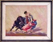 The Bull Fighter by Salvador Revertz, 1963
