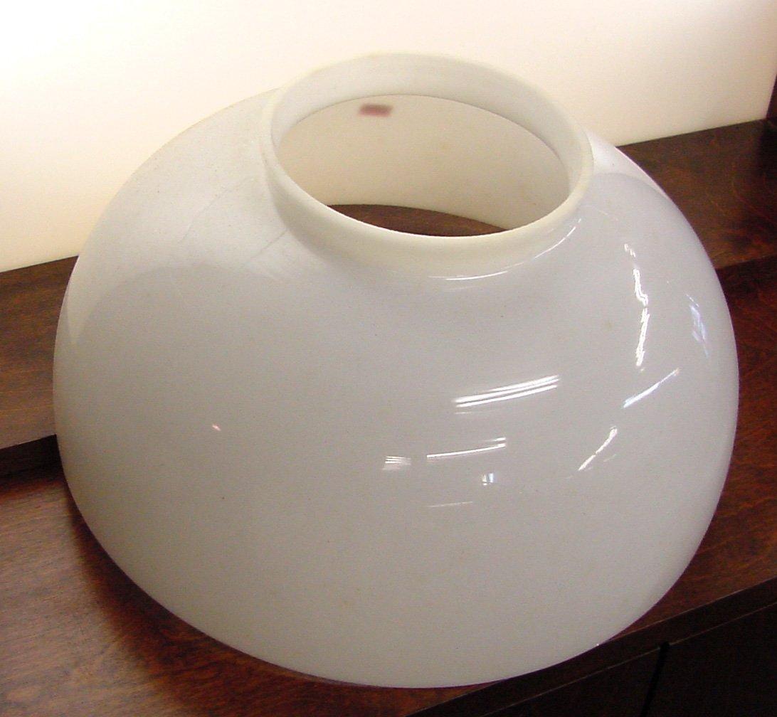 Pr. Milk Glass Ceiling Shades