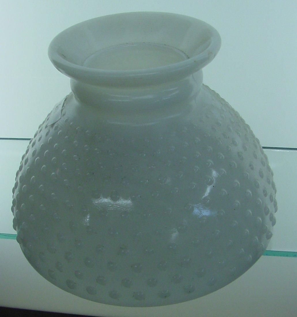 Beaded Milk Glass Table Lamp Shade