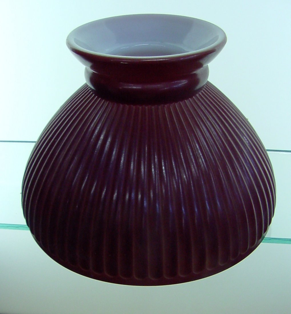 Red Sprayed Table Lamp Shade