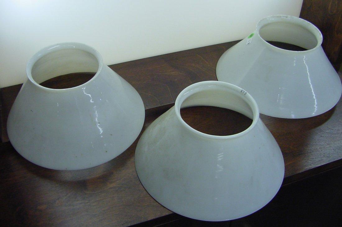 Trio Milk Glass Slant Side Shades