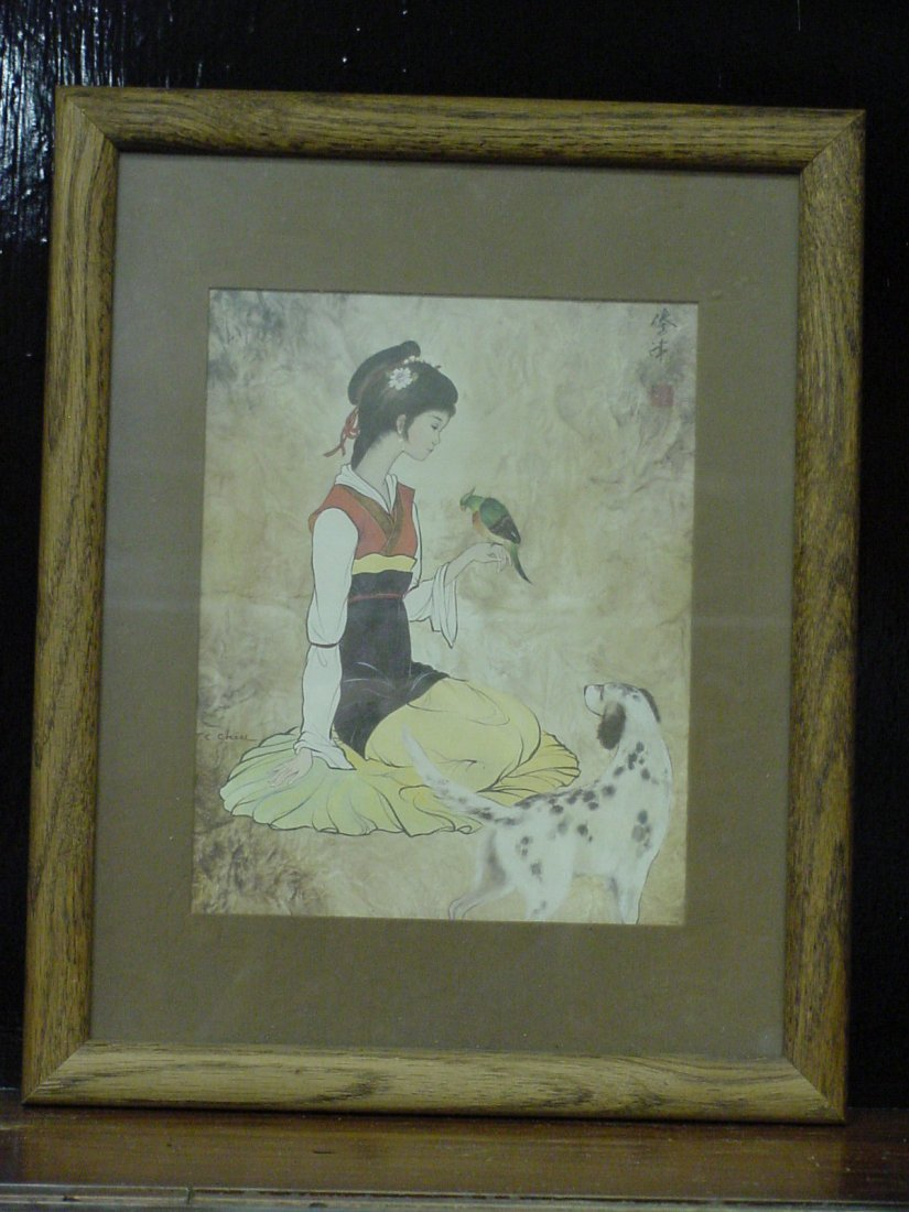 Chiu Asian Woman Painting
