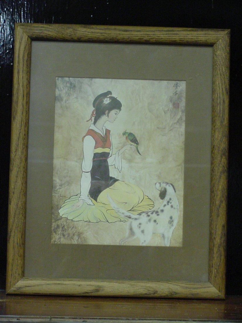 Chiu Asian Woman Painting