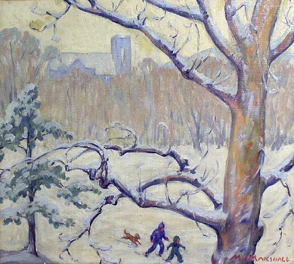 4: Ice Skating w/ Cityscape by Margaret J. Marshall - 2