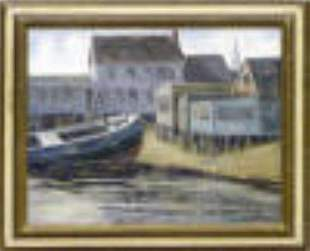 The Blue Boat by Milton Wassmer, Provincetown & Utah