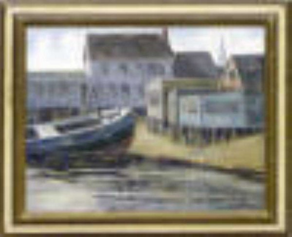 9: The Blue Boat by Milton Wassmer, Provincetown & Utah