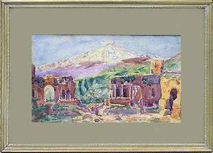 Greek Ruins Taomina, James Mallory Willson, 1926