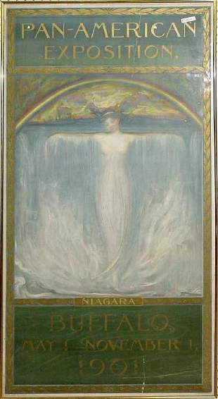 Pan American Expo Print, 1901 Niagara