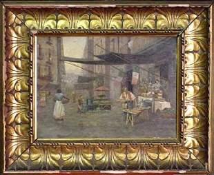 19th Century Italian Street Scene w/Pizza Seller