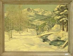 Colorado Snow Scene, Mid 20th Century