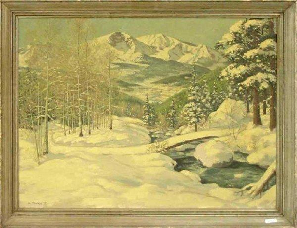 19: Colorado Snow Scene, Mid 20th Century
