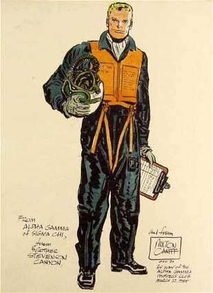 Original Portrait of Steve Canyon by Milton Caniff