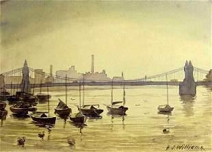 English Boating Scenes by Hubert John Williams