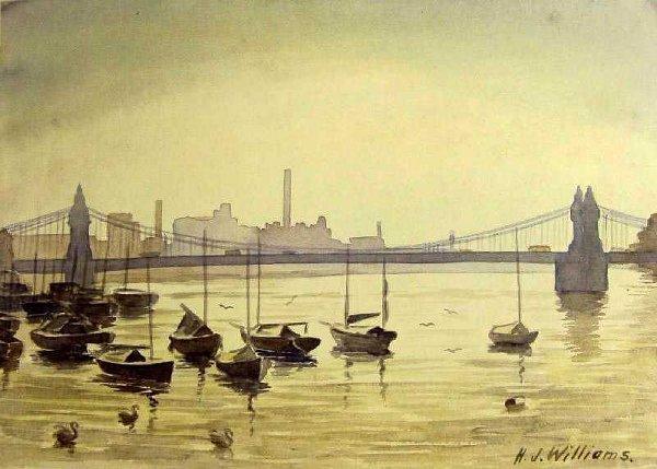 22: English Boating Scenes by Hubert John Williams