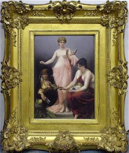 106: KPM Porcelain Of 3 Classical Ladies