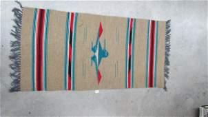 Am Indian Hand Woven Chimayo Ortega Rug