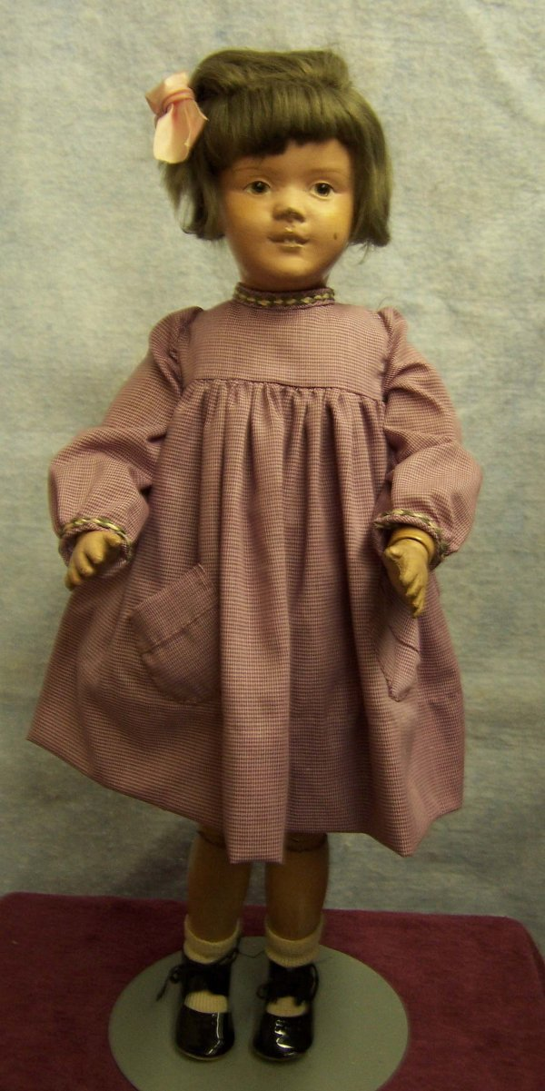 12: Schoenhut wood jointed doll