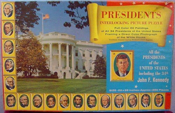 1005: Presidents Interlocking Picture Puzzle